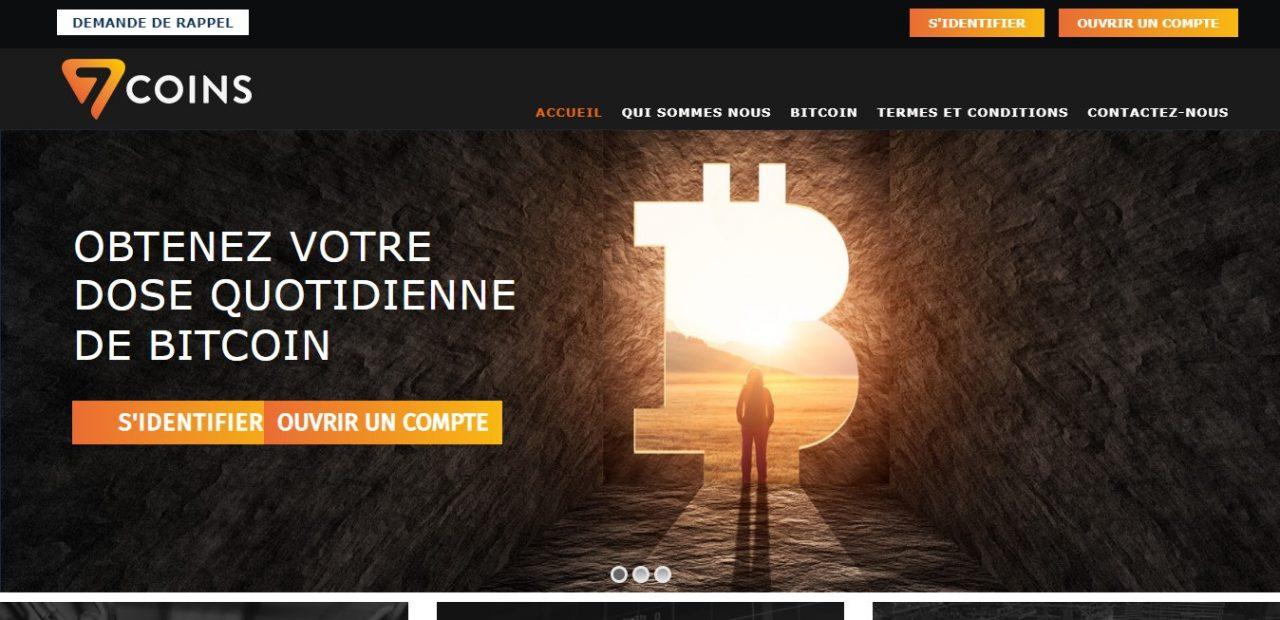 Seven-coins.com : le site d'une fausse société basée à « XXXXXXXX »